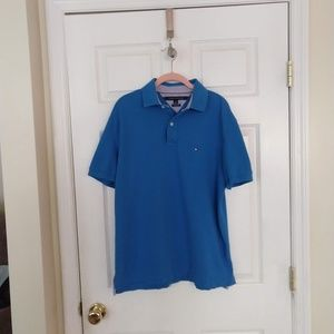 Tommy Hilfiger Polo Shirt - Large - Blue